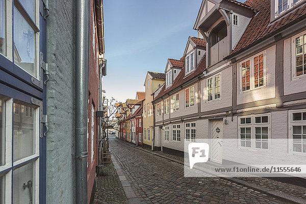 Gasse in der Altstadt  Flensburg  Schleswig-Holstein  Deutschland  Europa