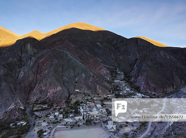 Elevated view of Iruya  Salta Province  Argentina  South America