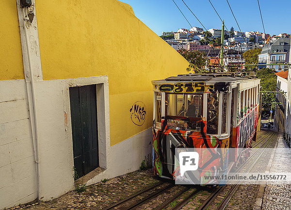 View of the Lavra Funicular  Lisbon  Portugal  Europe