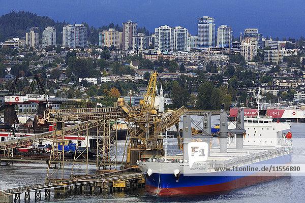 Commercial docks in North Vancouver  British Columbia  Canada  North America