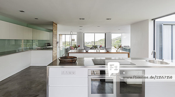 Modern  minimalist home showcase interior kitchen