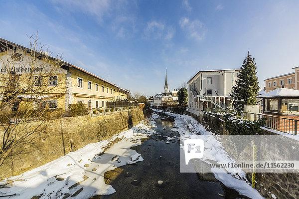 Deutschland  Bayern  Prien am Chiemsee im Winter