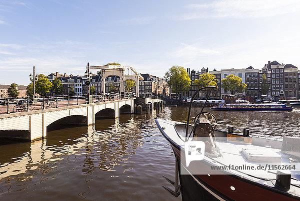 Niederlande  Amsterdam  Blick auf Magere Brug