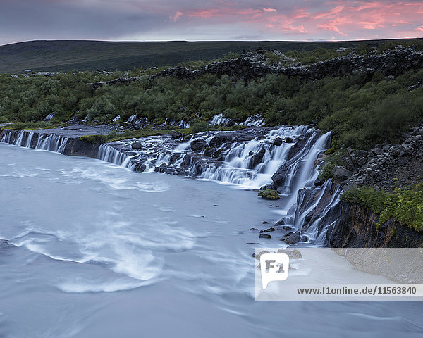Iceland  Suournes  Hraunfossar waterfall