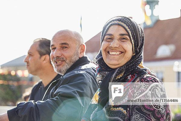 Sweden  Bleking  Solvesborg  Woman and man smiling