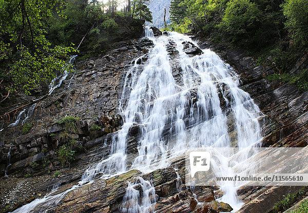 'Bertha Falls  Waterton Lakes National Park; Alberta  Canada'