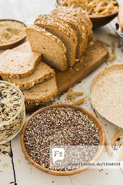 Quinoa and brown bread