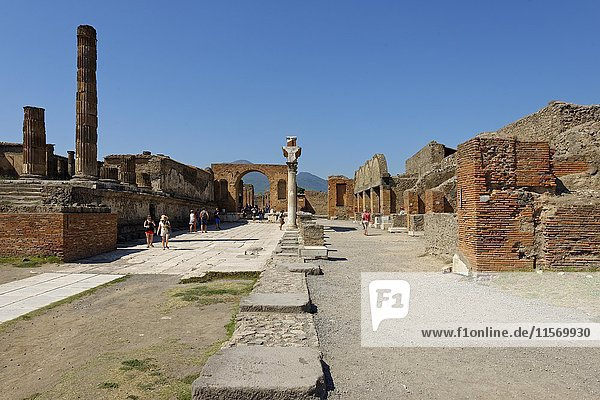 Forum  ancient city  Pompeii  Campania  Italy  Europe