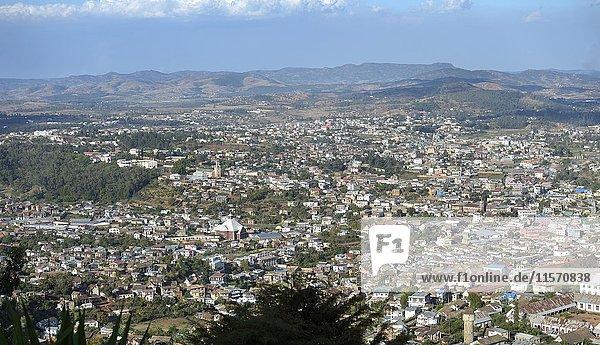 Cityscape  Fianarantsoa province  Madagascar  Africa