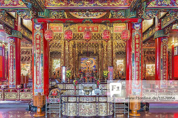 Chi Ming Palace  interior  Lotus Pond  Zuoying District  Kaohsiung  Taiwan  Asia