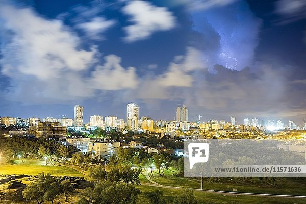 City view during storm  Ashdod  Israel  Asia