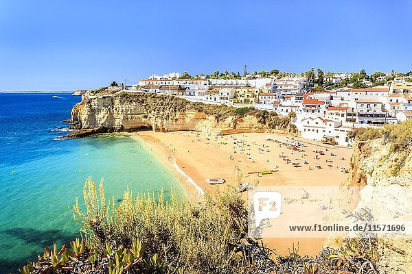 Beach  Carvoeiro  Algarve  Portugal  Europe
