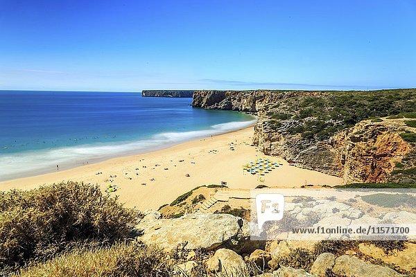 Beliche Beach next to Sagres  Saint Vincent Cape  Algarve  Portugal  Europe