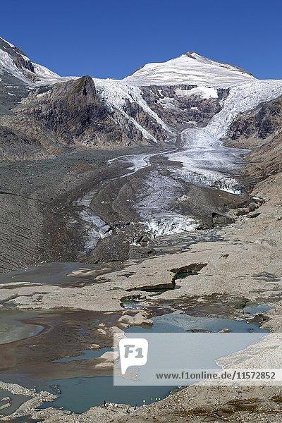 Gletscher Pasterze mit Johannisberg  Großglockner  Hohe Tauern  Österreich  Europa