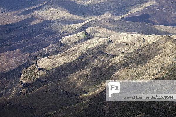 Äthiopien  Gipfel der Berge Simien