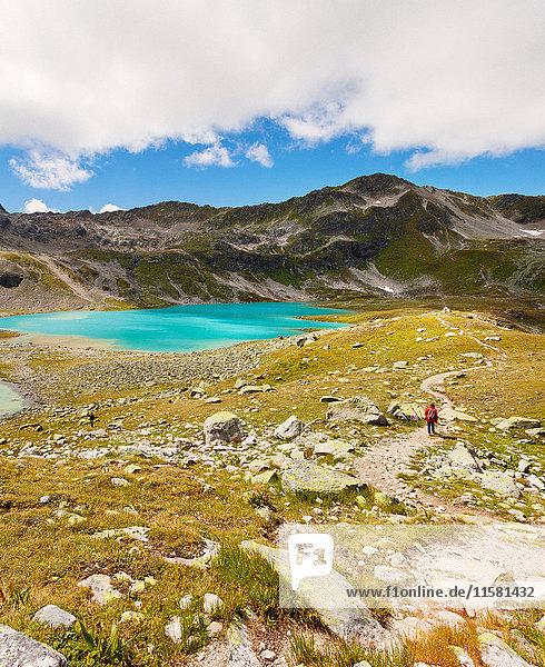 Hiker  Davos  Graubünden  Switzerland
