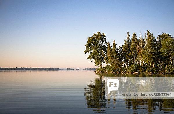 Lake in morning light
