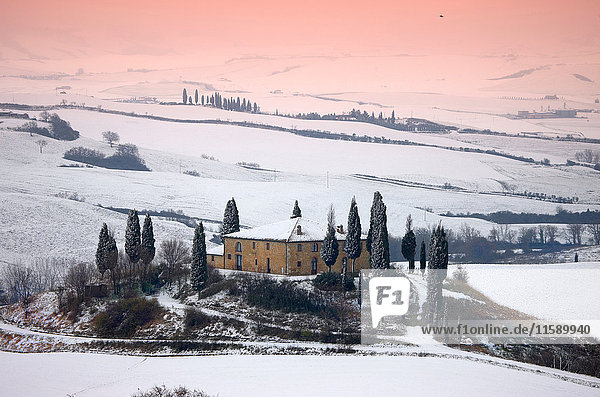 Orcia-Tal im Winter