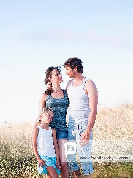gemeinsame Familie am Strand