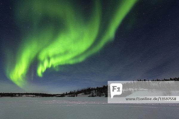Kanada  Yellowknife  Nordlicht