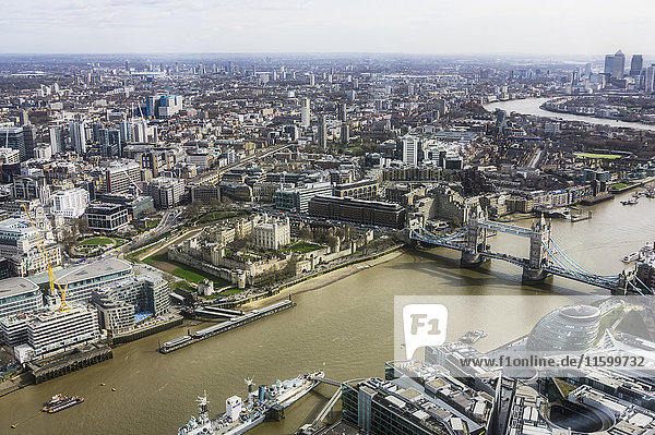 UK  London  River Thames and Tower Bridge