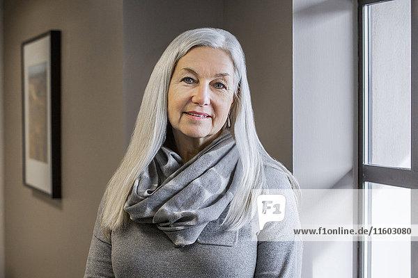 Portrait of smiling older Caucasian woman