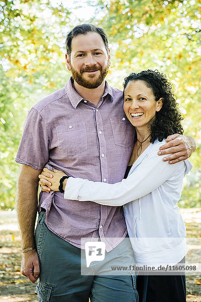 Portrait of smiling Caucasian couple