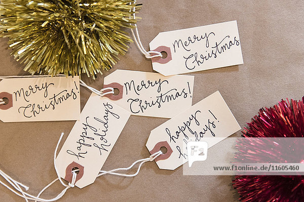 Christmas ornaments and tags