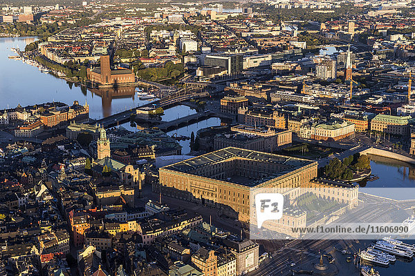 Aerial view of Stockholm old town  Sweden