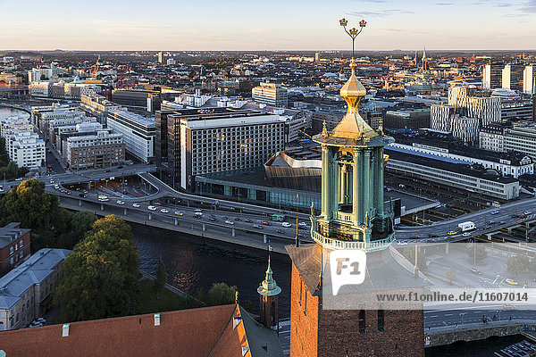 Stockholm cityscape with Stockholm City Hall  Sweden