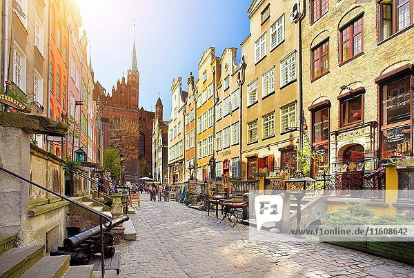 Mariacka Street  Old Town in Gdansk  Poland.