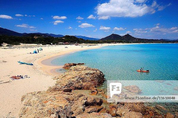 Costa Rei beach,  Sardinia ,  Italy.