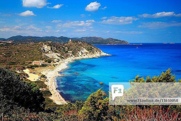 Capo Carbonara beach  Sardinia  Italy.