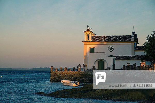 Church of Our Lady of Loreto located on the island of the Frades in the Bay of All Saints in Salvador Bahia Brazil.