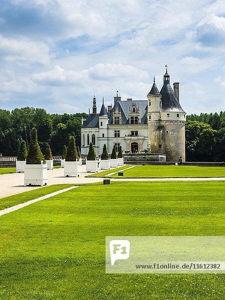 Schloss Chenonceau an der Cher  Château de Chenonceau  Department Chenonceaux  Indre-et-Loire  Region Centre  Frankreich  Europa
