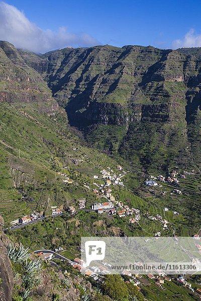 Upper Valley  Valle Gran Rey  La Gomera  Kanarische Inseln  Spanien  Europa