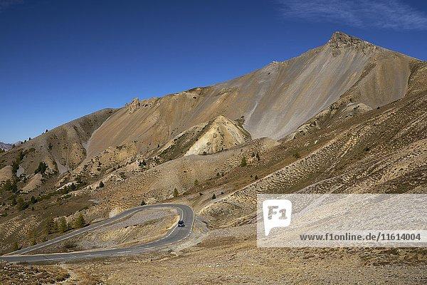 Passstraße Col D´Izoard  Route des Grandes Alpes  Département Hautes-Alpes  Frankreich  Europa