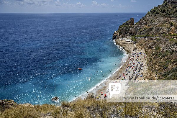 Cala Moraig  Moraig-Strand  bei Benitachell  Costa Blanca  Spanien  Europa