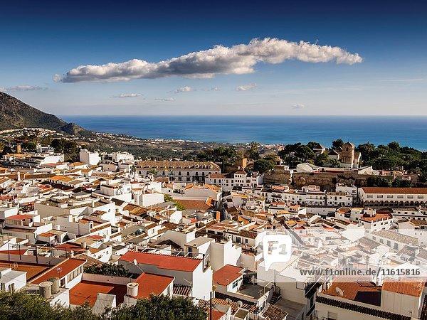 White village Mijas  Costa del Sol Malaga province. Andalusia southern Spain.
