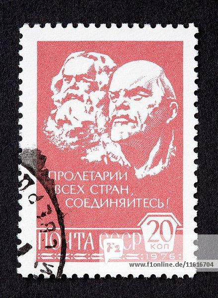 Soviet union postage stamp.