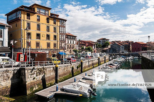 Harbour  Llanes village  Asturias. Spain. Historical Heritage Site.
