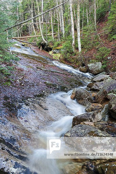 Tecumseh Brook in Waterville Valley  New Hampshire during the spring months.