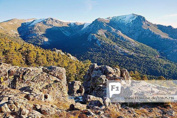 La Maliciosa peak in the Sierra de Guadarrama. Madrid. Spain. Europe.