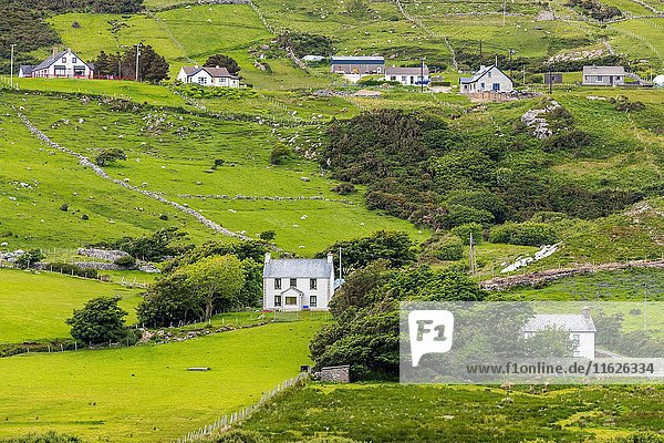 Landscape near Glencolumbkille  County Donegal  Ireland  Europe.