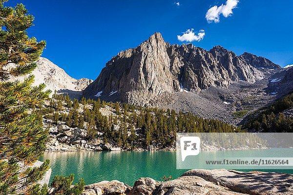 Temple Crag above Big Pine Lake #3  John Muir Wilderness  Sierra Nevada Mountains  California USA.