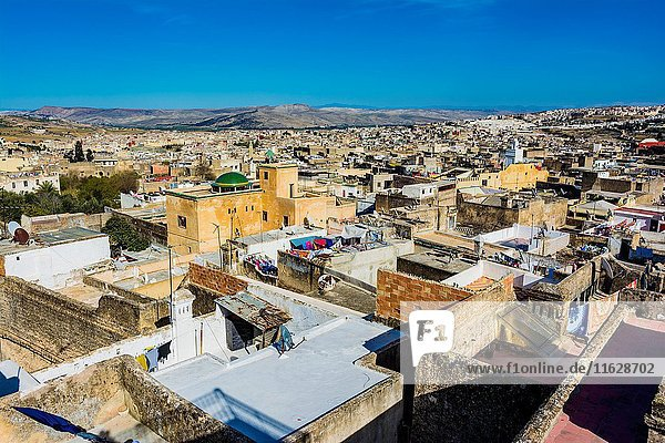Fez medina view from above. Fes  Morocco  North Africa.