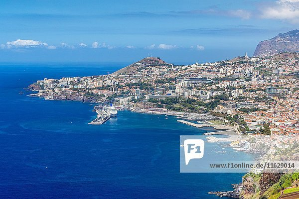 Funchal seen from Pinaculo viewpoint  Madeira  Portugal.