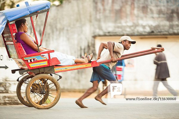 Local transport/ local taxi in small cities and towns in Madagascar.