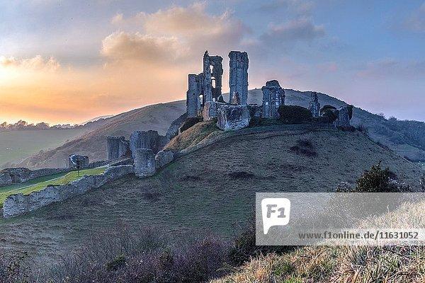 Corfe Castle  Dorset  England  UK.