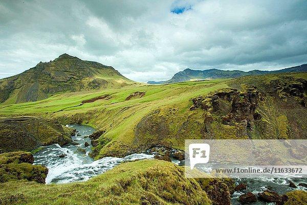 Skogafoss waterfall  Iceland.